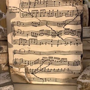Vintage Wall Art - Beautiful vintage musical motif memory tile